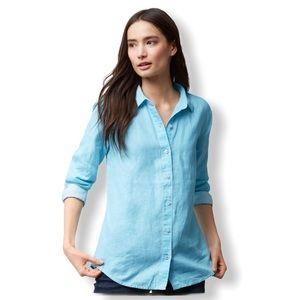 {Tommy Bahama} Linen Sea Glass Breezer Shirt